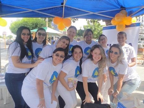 Calouro Humanorealizou açõesem prol da prevenção do câncer infantil