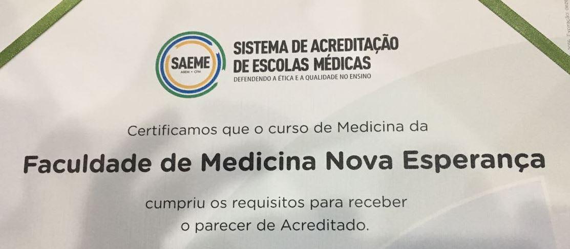 FACULDADE DE MEDICINA NOVA ESPERANÇA