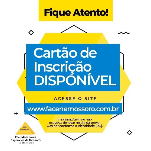COMVEST LIBERA CARTÕES DE INSCRIÇÃO PARA OS CANDIDATOS APTOS AO VESTIBULAR 2019.1 DE MEDICINA DA FACENE/RN