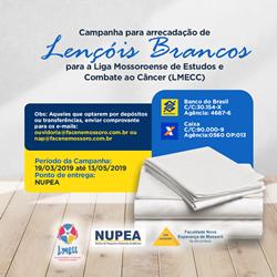 CAMPANHA PARA ARRECADAÇÃO DE LENÇÓIS BRANCOS
