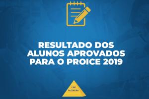 Resultado final da seleção PROICE 2019 – Edital 001/2019.