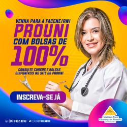 FACENE/RN COM BOLSA INTEGRAL DE 100% PELO PROUNI