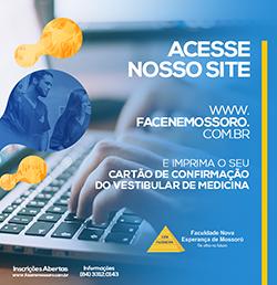 DISPONÍVEL CARTÃO DE CONFIRMAÇÃO DO VESTIBULAR DE MEDICINA FACENE/RN