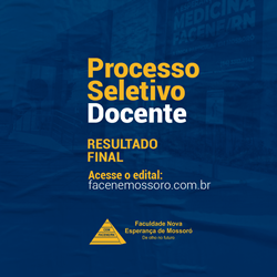RESULTADO FINAL DO PROCESSO SELETIVO DOCENTE