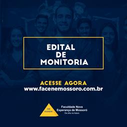 Edital referente ao Processo de Seleção de Monitoria para o ano de 2020