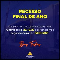 RECESSO FINAL DE ANO