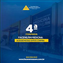 EDITAL REFERENTE À QUARTA CHAMADA DO PROCESSO SELETIVO VESTIBULAR 2021.1 – MEDICINA FACENE/RN