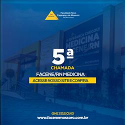 EDITAL REFERENTE À QUINTA CHAMADA DO PROCESSO SELETIVO VESTIBULAR 2021.1 – MEDICINA FACENE/RN