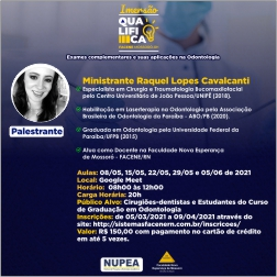 IMERSÃO QUALIFICA Curso Exames complementares e suas aplicações na Odontologia