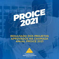 RESULTADO DA SELEÇÃO DE PROJETOS DE INICIAÇÃO CIENTÍFICA E DE EXTENSÃO SUBMETIDOS AO PROICE 2021 (EDITAL 007/2020)