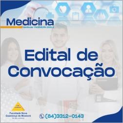 EDITAL REFERENTE À QUARTA CHAMADA DO PROCESSO SELETIVO VESTIBULAR 2021.2 – MEDICINA FACENE/RN